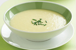 Vichysoisse (aka cold leek and potato soup)
